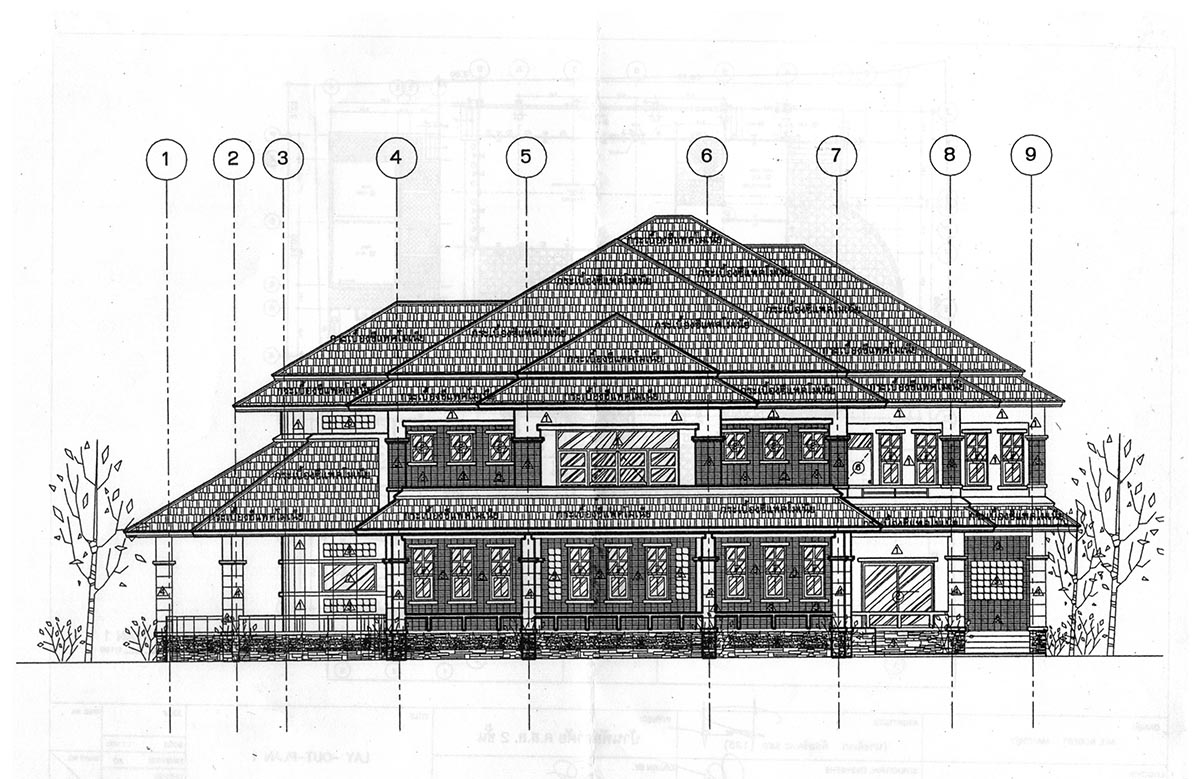 Satuk Buriram Architect House Plan front view