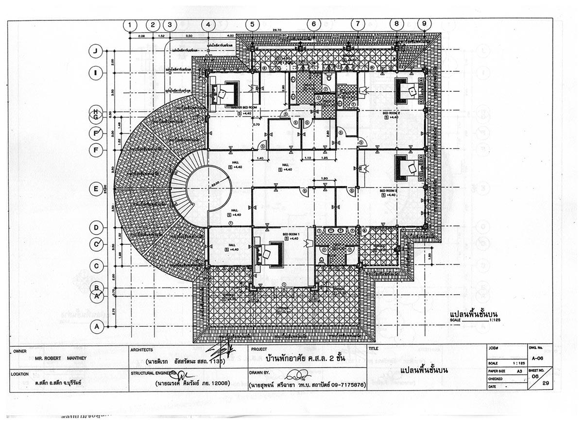 Satuk Buriram House 2nd floor architect plan